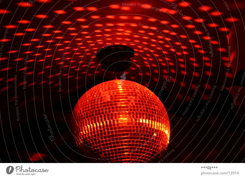 Disco, disco!!! Party Rotate Light Reflection Red Leisure and hobbies Sphere Feasts & Celebrations Lighting Movement