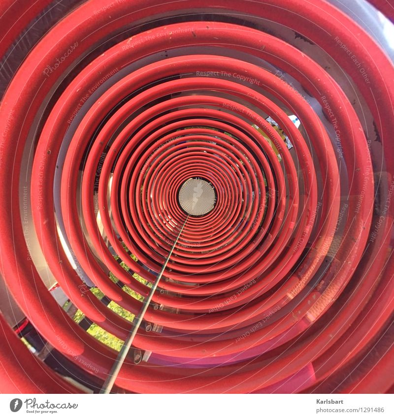 City Red Movement Art Line Metal City life Design Energy industry Waves Technology Circle Industry Stripe Round Network