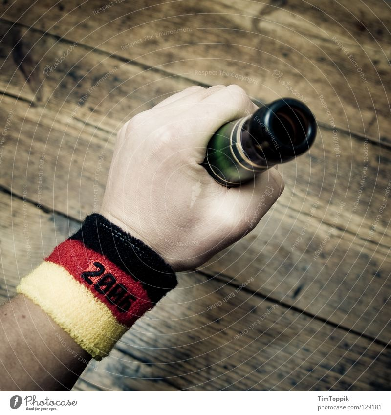 Blue Hand Joy Wood Party Germany Arm Soccer Table Drinking German Flag Beer Alcoholic drinks Alcohol-fueled Sporting event