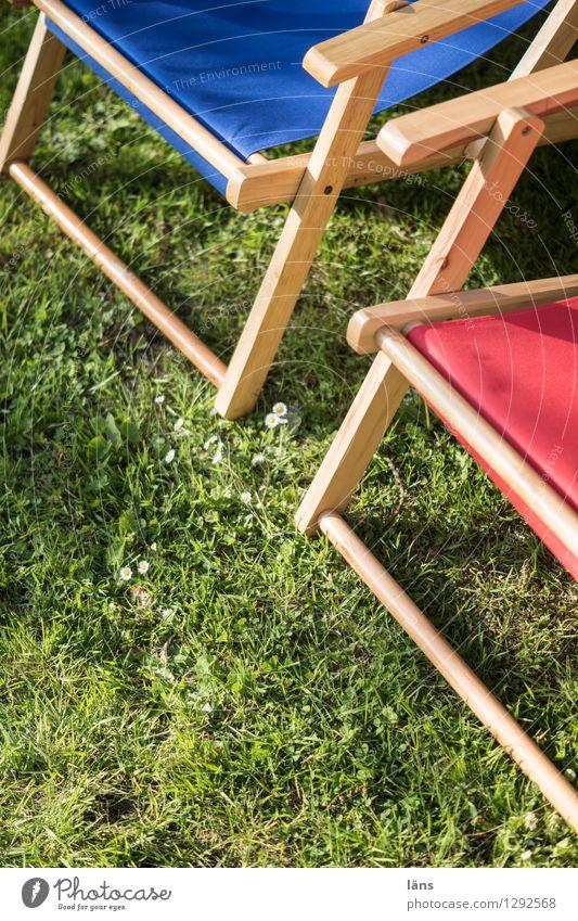 sunbathing lawn Deckchair Closing time Meadow Break Garden Summer