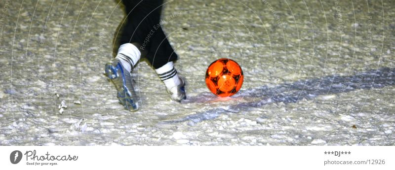 snowsoccer Playing Footwear Burl Practice Sports Snow Soccer Ball Sports Training Orange Legs Feet Uneven Winter sports Red Running Walking 1 Football boots