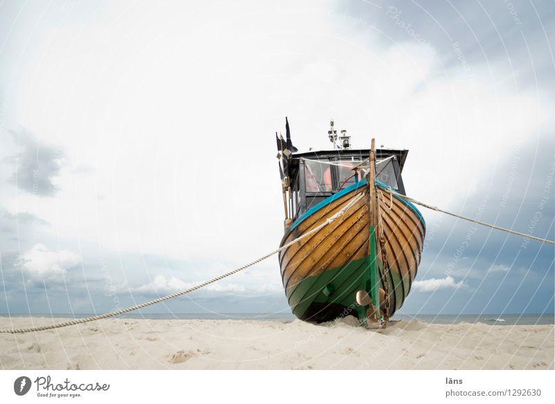 the longing within you Beach Sand Watercraft Sky Baltic Sea Fishery Maritime