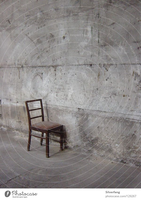 bowel movement Concrete Wall (building) Art Places Furniture Chair Seating Industrial Photography