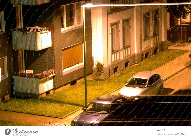 House (Residential Structure) Street Car Strip of light