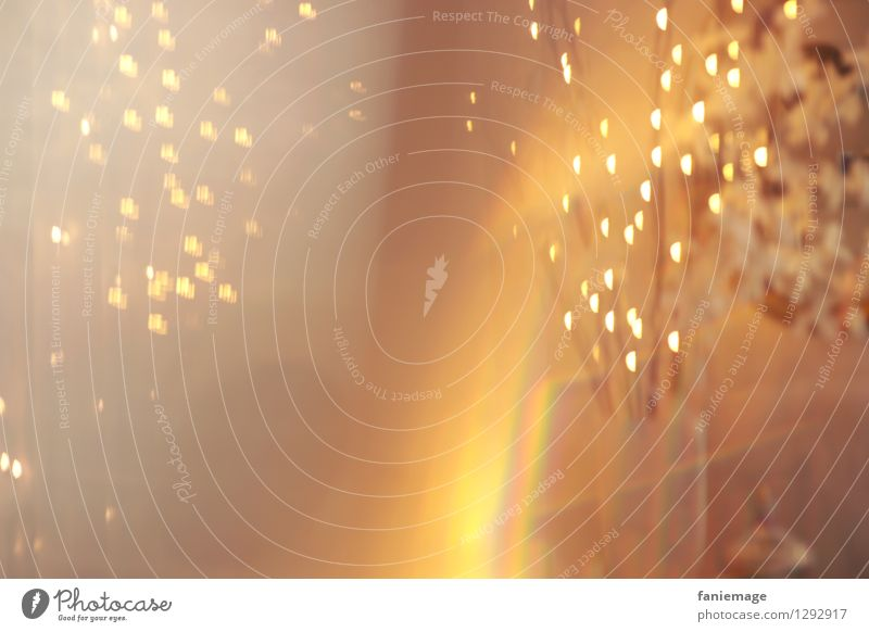 light whirls Art Crazy Warmth Star (Symbol) Light (Natural Phenomenon) Blur Gold Prism Living room Romance Yellow White Warm colour Swirl Abstract Reflection