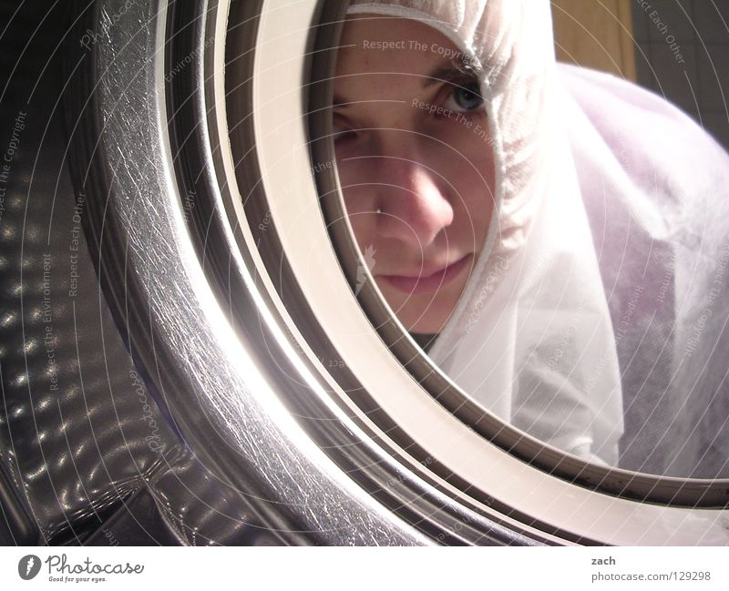 Woman Window Metal Glass Industry Bathroom Vantage point Hollow Stockings Doomed Laundry Washer Opening Hatch Porthole Washer drum