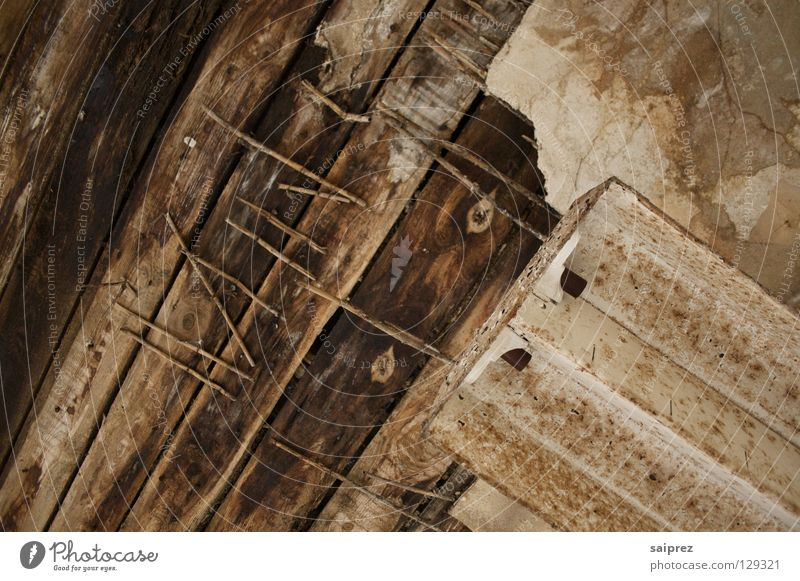 traces of time Wood Nail Derelict Broken Wood grain Old Blanket Shabby