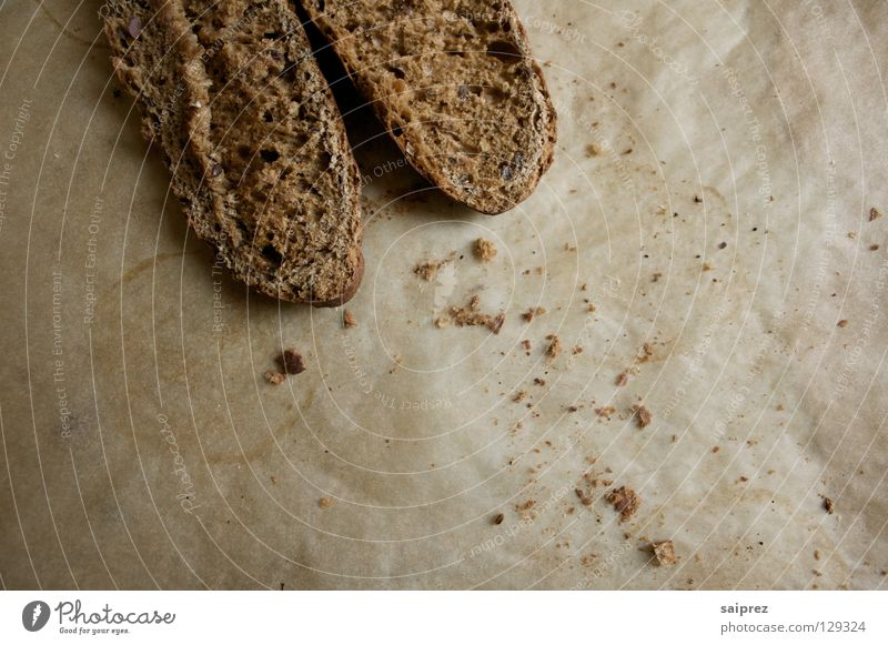 crumbled Roll Wholewheat Rustic Baked goods Food Crumbs baking paper