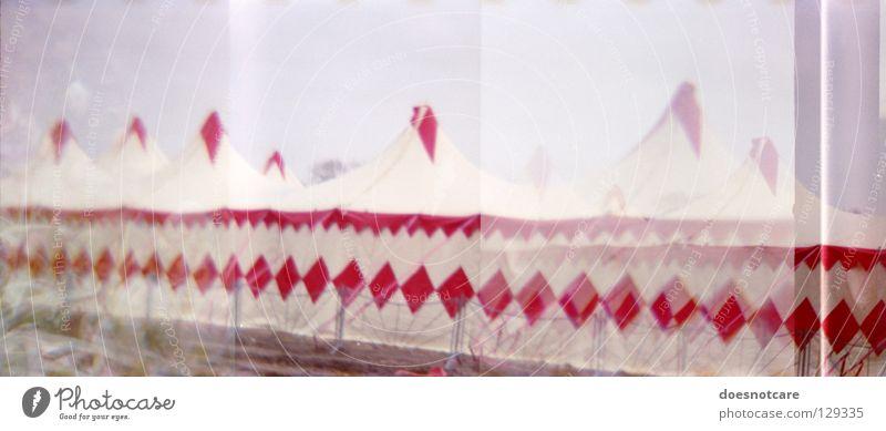 Ladies, gentlemen...! Circus Tent Lomography Panorama (View) Attraction Art Culture Joy multiple exposure 35mm Diana Large Panorama (Format)
