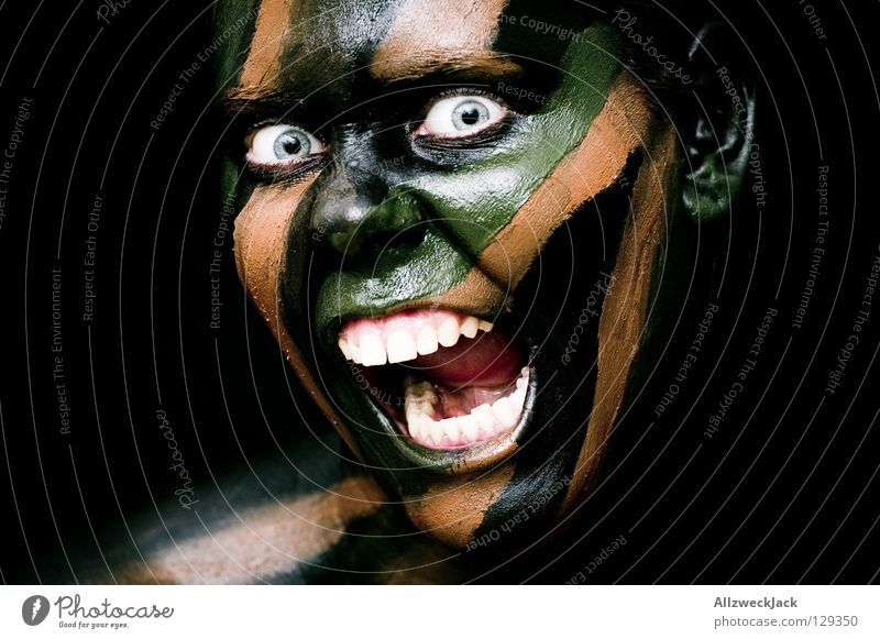 Woman Green Black Face Eyes Dark Style Brown Power Fear Dangerous Force Crazy Might Threat Bathroom