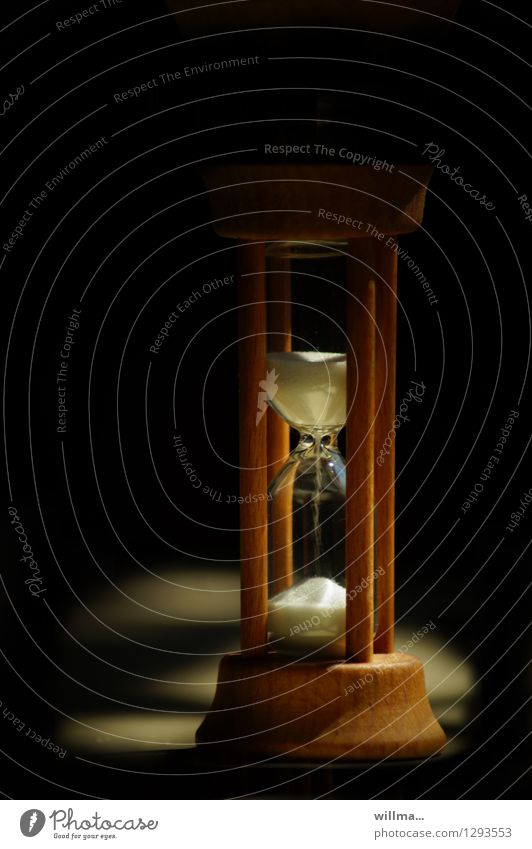 0815 AST | the clock is ticking Hourglass Time Eternity lifetime Sand Trickle Wait Dark Slowly Clock Patient Colour photo Melt away Seep