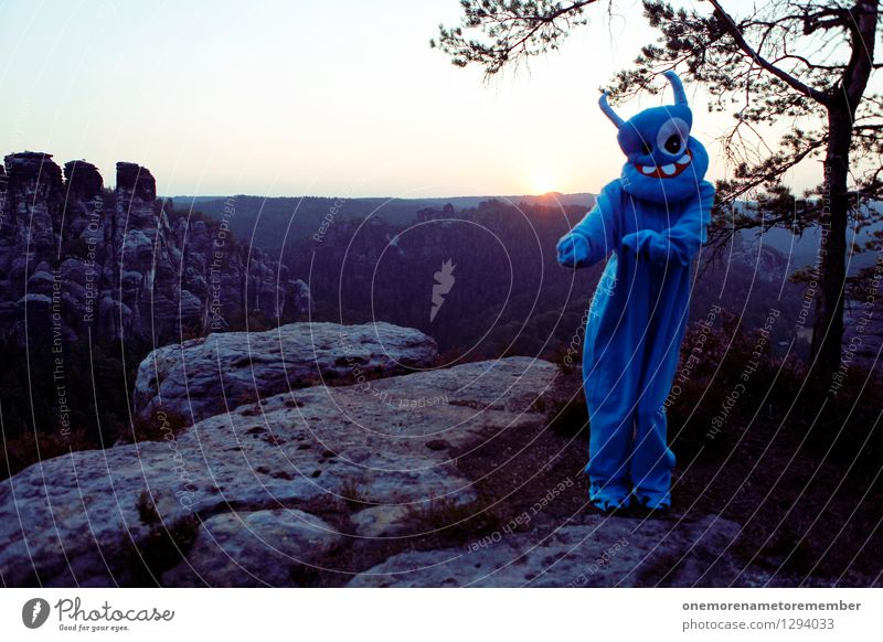 Blue Joy Art Rock Esthetic Dance Adventure Dance event Mask Work of art Costume Carnival costume Monster Comical Funster Extraterrestrial being