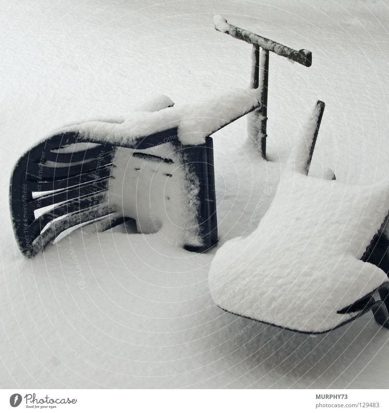 Winter Snow Garden Air Wind Table Chair Gale Furniture Chaos Muddled Snowflake Untidy Snowstorm Gust of wind Topple over