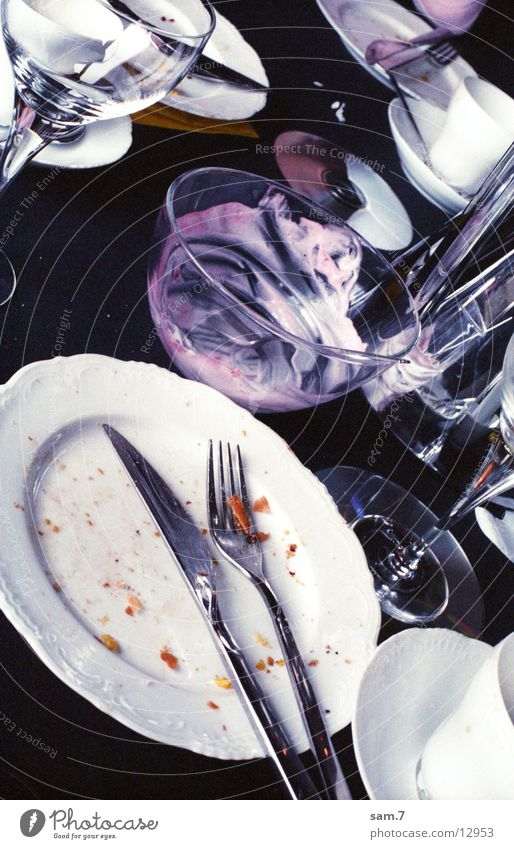 partyleftovers Crockery Second-hand Glass Nutrition Dirty Living or residing