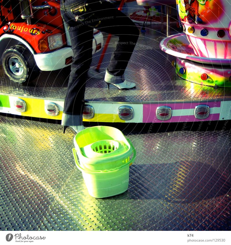 KIRMES 2 Carousel Cleaning Fairs & Carnivals Aluminium Multicoloured Glittering Light Roller coaster Bumper car Showman Truck Playing Cliche Rotate Get in Go up