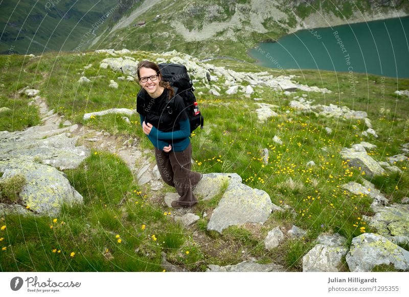 Human being Nature Vacation & Travel Youth (Young adults) Young woman Flower Landscape 18 - 30 years Adults Mountain Environment Meadow Feminine Sports Freedom