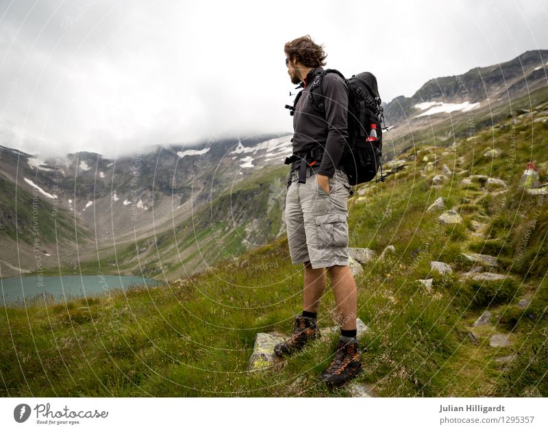 Human being Nature Vacation & Travel Youth (Young adults) Young man Joy Far-off places 18 - 30 years Adults Mountain Environment Meadow Freedom Lifestyle Lake Masculine