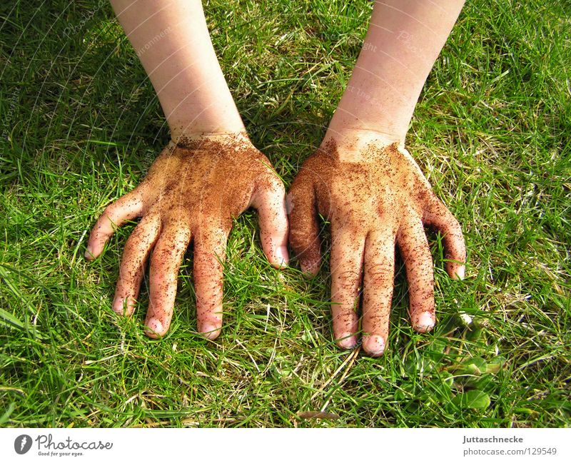 Hand Joy Meadow Playing Grass Garden Dirty Fingers Earth Lawn Leisure and hobbies Bottle Gardening Gardener Dig Mole