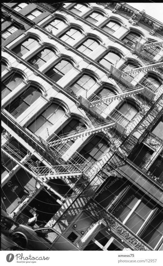 Window Architecture Facade Brick Ladder Fire ladder Soho