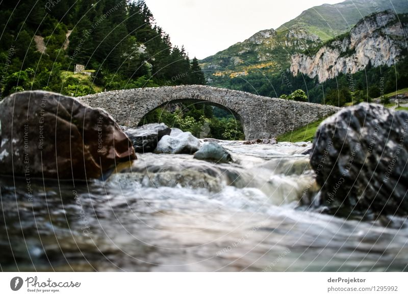 Roman bridge with brook Vacation & Travel Tourism Trip Adventure Far-off places Freedom Mountain Hiking Environment Nature Landscape Plant Animal Elements