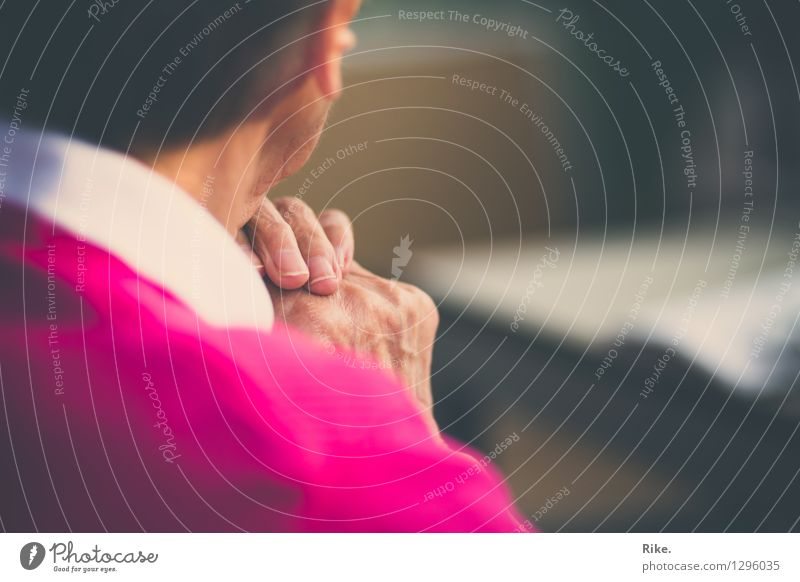 Human being Woman Old Hand Loneliness Calm Life Emotions Senior citizen Time Moody 60 years and older Wait Future Transience Female senior