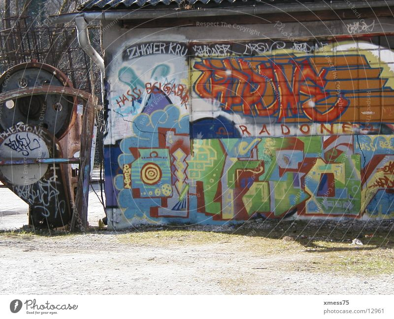 mural painting Tagger Architecture graphite Colour