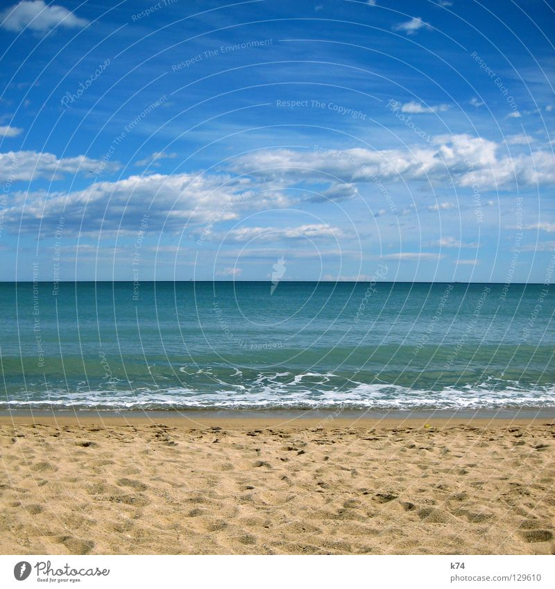 Water Sky Ocean Green Blue Beach Clouds Lake Sand Coast Horizon Earth Tracks Footprint Geometry Surf