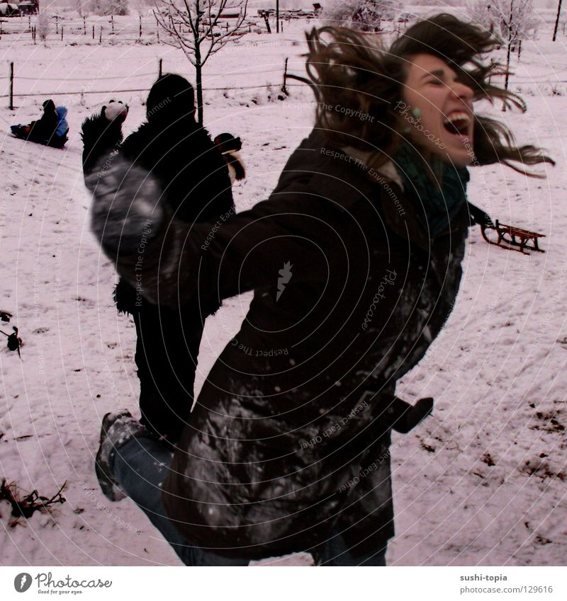Man White Winter Black Snow To talk Jump Hair and hairstyles Fear Walking Flying Running Aviation Dangerous Scream Jacket