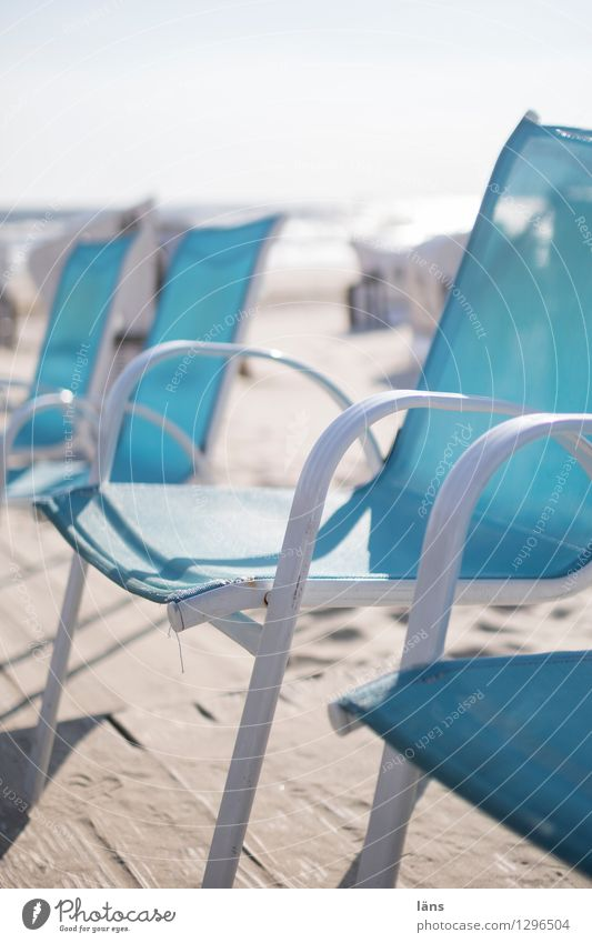 The day begins Beach chairs Ocean Baltic Sea Usedom Deserted vacation