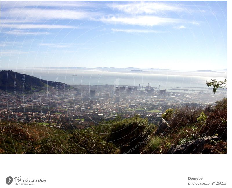 Cape Town from above South Africa Fog Ocean Mountain Bay Vantage point