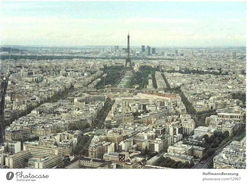 Paris Eiffel Tower Paris from above