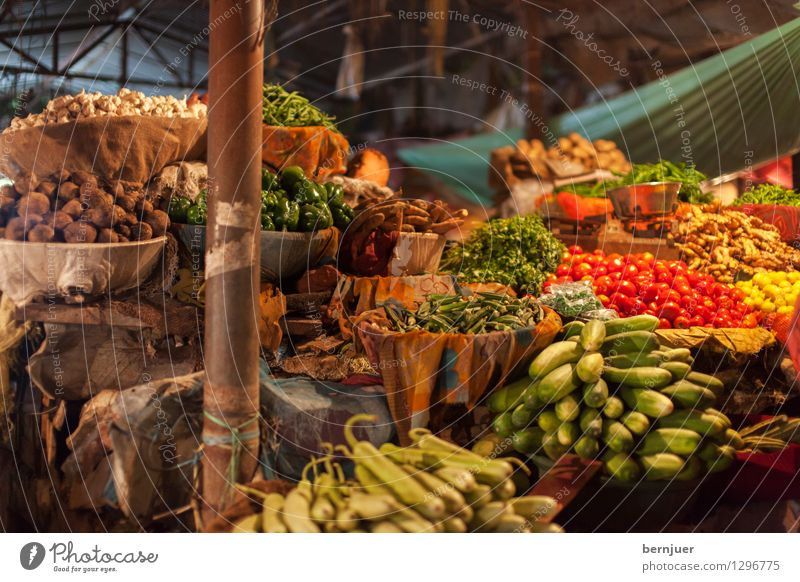 Food Fruit Authentic Nutrition Vegetable Asia Good Organic produce Markets India Vegetarian diet Lettuce Salad Tomato Versatile Pepper