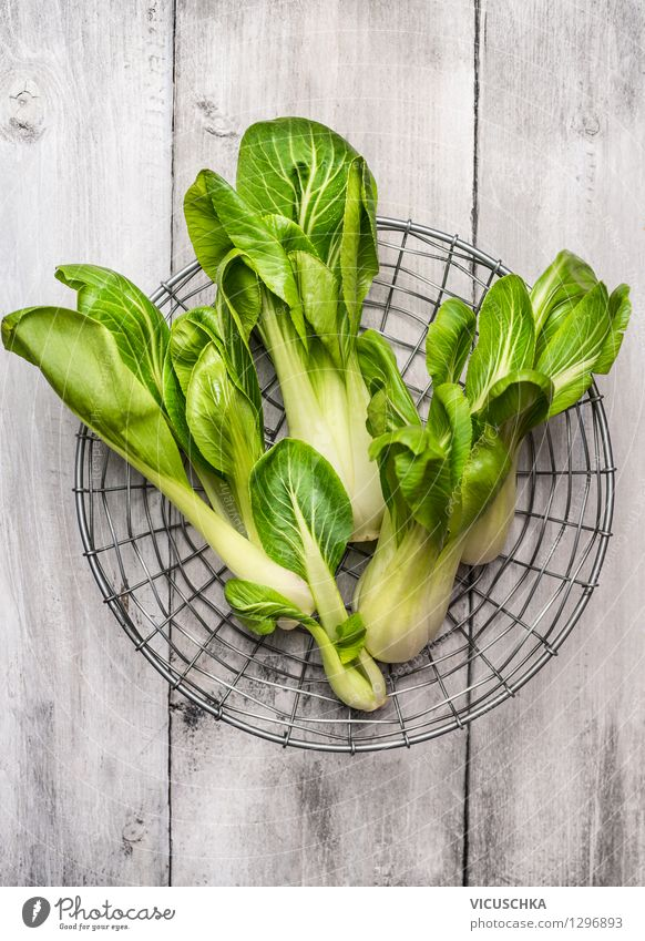 Pak Choi Food Vegetable Lettuce Salad Nutrition Lunch Organic produce Vegetarian diet Diet Style Design Healthy Eating Life Garden Table Nature Chinese Pak choy