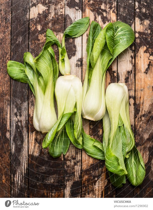 Pak Choi or cabbage leaves called Food Vegetable Lettuce Salad Nutrition Lunch Dinner Organic produce Vegetarian diet Diet Style Design Healthy Eating Life