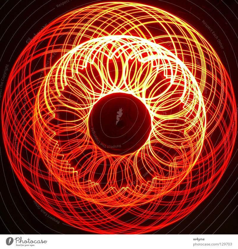 Red Black Yellow Waves Circle Arrangement Technology Round Trust Spiral LED Electrical equipment