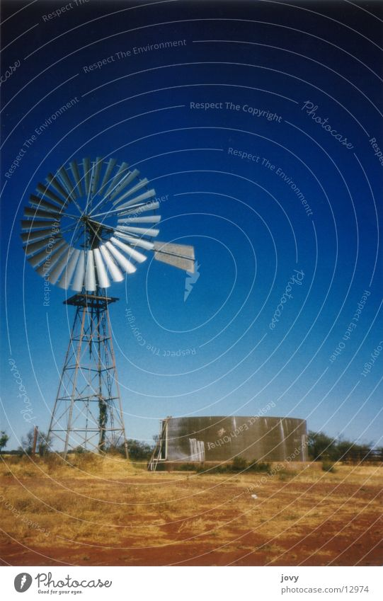 Blue Vacation & Travel Wind Tower Wind energy plant Steel Australia Tank Outback Water pump