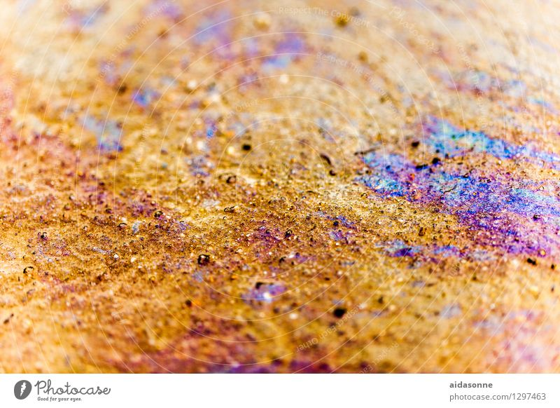 gas Environment Water Environmental pollution Environmental protection Gasoline Oil Waste oil variegated Colour Poison Chemistry Chemicals Colour photo