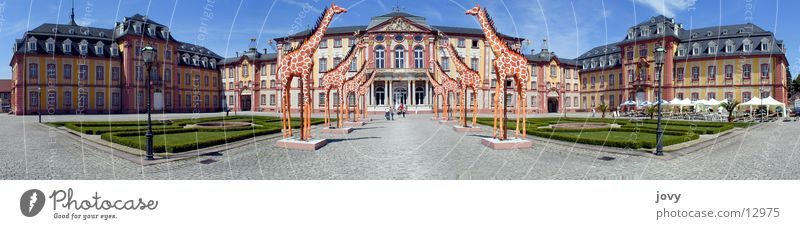 Baroque castle Bruchsal Panorama Panorama (View) Exhibition Trade fair fractal Castle Teatro Museo Dalí Giraffe Large Panorama (Format) Architecture