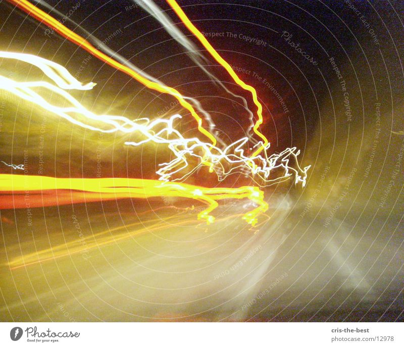 Bright Crazy Speed Stripe Lightning Photographic technology