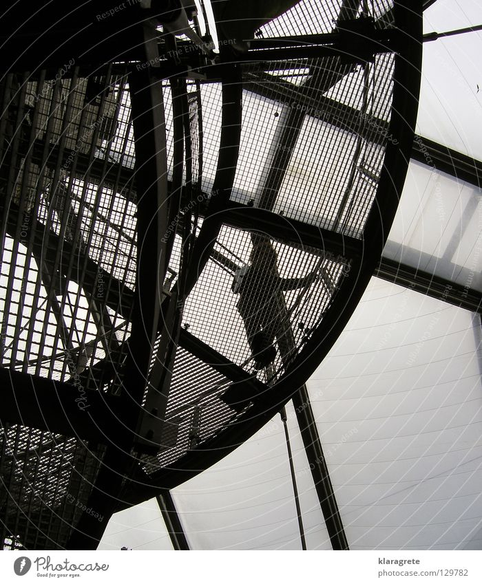 Man Sky Above Stairs Modern Steel Handrail Elevator Go up Grating Descent Acrylic Winding staircase Wire cable Steel processing