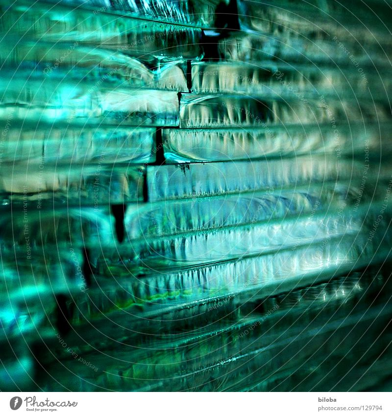 Square glass Pattern Light Multicoloured Green To break (something) Corner Tasty Esthetic Structures and shapes Background picture Beautiful Glass glass break