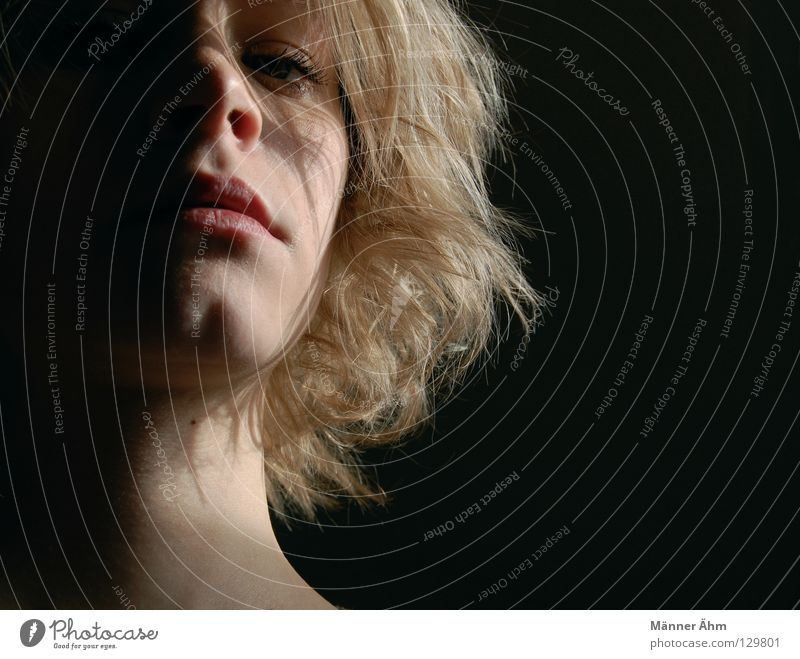 Woman Face Black Dark Emotions Hair and hairstyles Mouth Bright Blonde Nose Grief Transience Distress