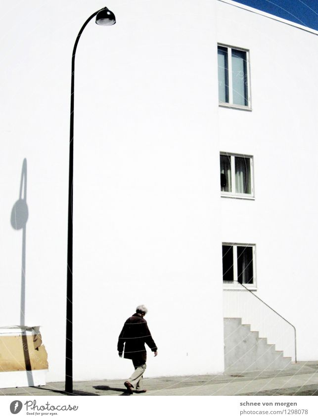 scenery Human being Feminine 1 Copenhagen Small Town Outskirts House (Residential Structure) Manmade structures Building Architecture Facade Concrete Going