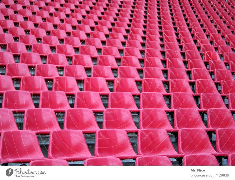 Far-off places Colour Sports Playing Line Glittering Germany Pink Crazy Empty Places Multiple Chair Leisure and hobbies Audience Deep