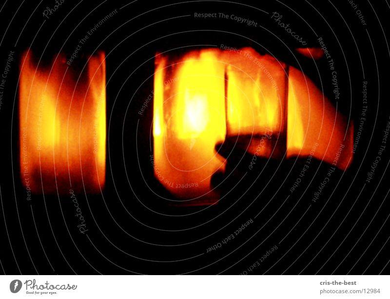Red Glass Blaze Cozy Fireside Photographic technology