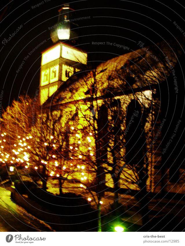 church Dark Yellow Architecture Light Christmas & Advent