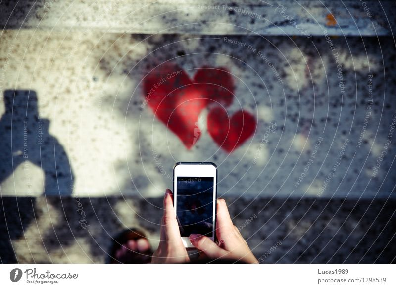 photograph hearts with smartphone Lifestyle Elegant Style Design mobile PDA Camera Entertainment electronics High-tech Telecommunications by hand Fingers Art