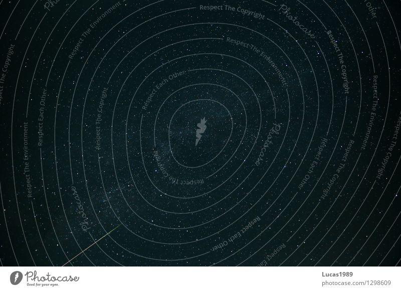 Shooting star on the Milky Way Sky Sky only Cloudless sky Night sky Stars Summer Beautiful weather Meteor Milky way Asteroid Comet Street Dark Black Impressive
