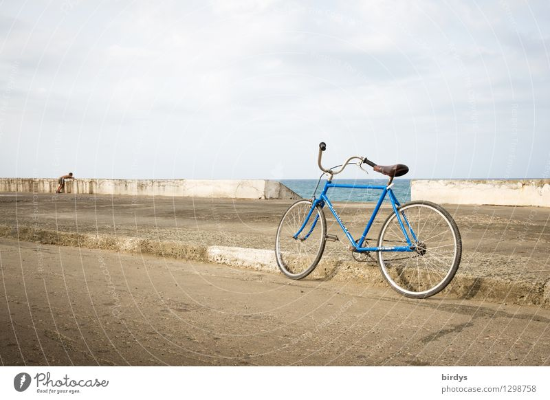Human being Child Summer Ocean Loneliness Calm Clouds Far-off places Street Emotions Coast Exceptional Horizon Bicycle Authentic Infancy
