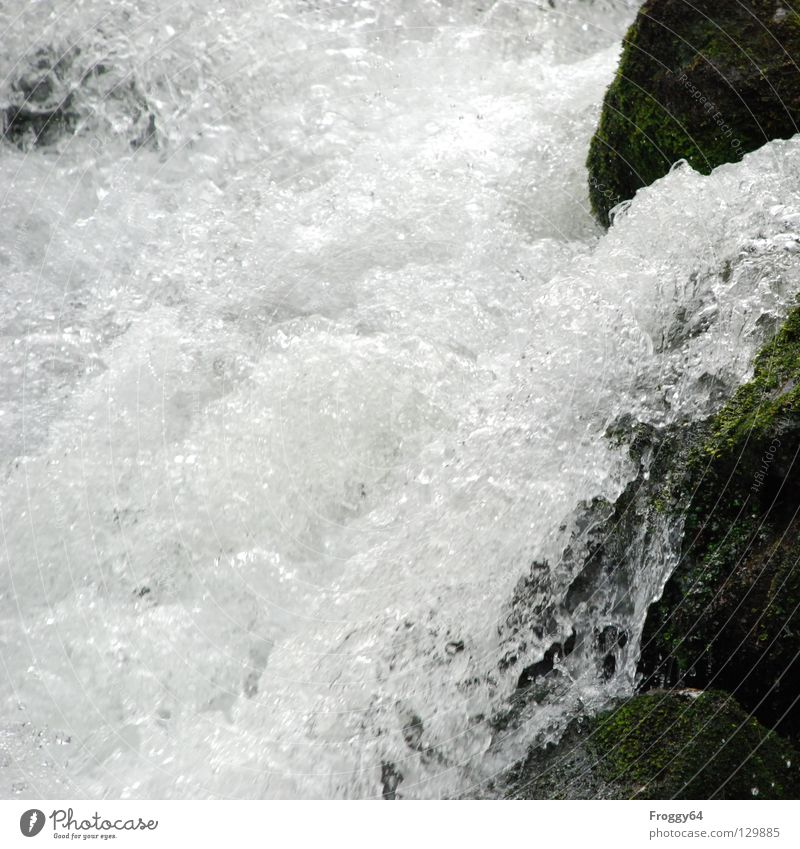 white waterfall Inject Air Air bubble White Black Mountain stream Brook River Water Rock Stone Drops of water